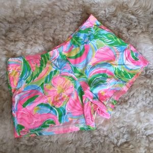 Lilly Pulitzer Classic Vibrant Floral Shorts